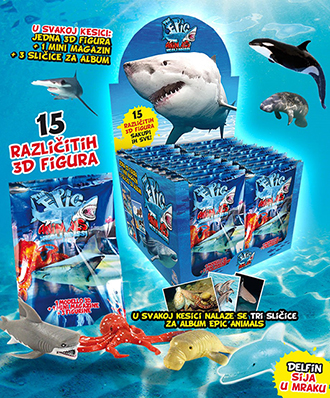 Apsolut Velpro 3D figurina Epic Animals